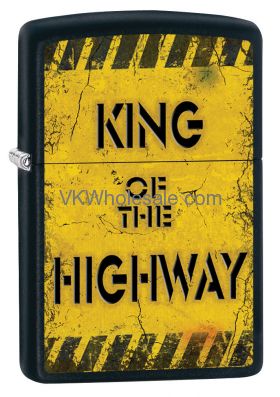 Zippo Classic King Of The Highway Black Matte Z285 Wholesale
