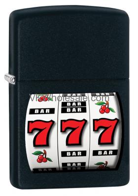 Zippo Classic 777 Casino Black Matte Z205 Lighter Wholesale