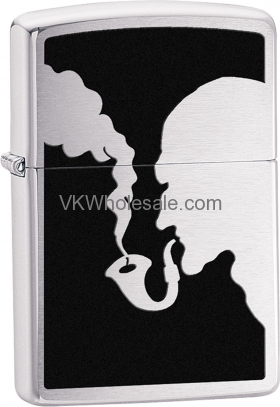 Zippo Classic Man Smoking Pipe Brushed Chrome Windproof Lighter Z265 Wholesale