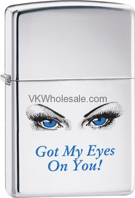 Zippo Classic Got My Eyes On You High Polish Chrome Windproof Lighter Z264 Wholesale
