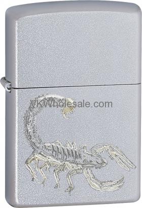 Zippo Classic Scorpion Satin Chrome Windproof Lighter Z267 Wholesale