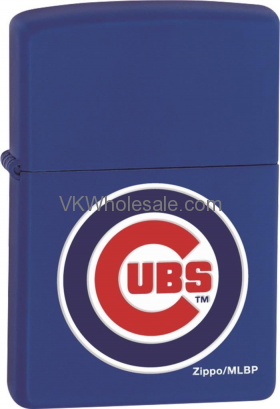 Zippo Classic MLB Chicago Cubs Royal Blue Matte Z902 Lighter Wholesale