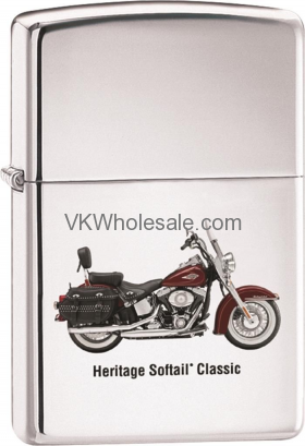 Zippo Classic Harley Davidson Heritage High Polish Chrome Z241 Lighter Wholesale