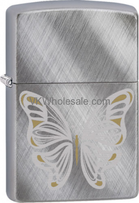 Zippo Classic Buttterfly Diagonal Weave Brushed Chrome Z161 Windproof Lighter Wholesale