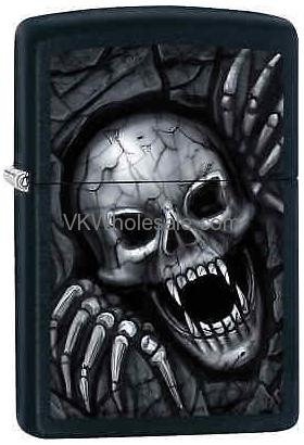 ZIPPO CLASSIC VAMPIRE Skull Black Matte Windproof Lighter