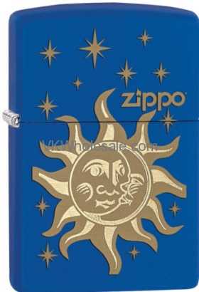 Zippo Choice Sun And Moon Sol y Luna Blue Matt Lighter 28791 Wholesale