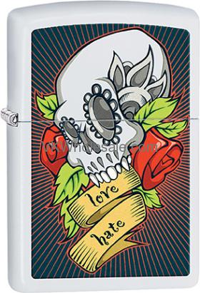 Zippo Classic Tattoo Skull 28859 Windproof LighterWholesale
