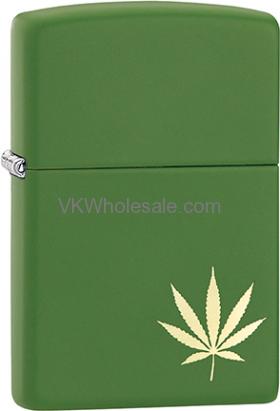 ZippoMarijuana Leaf Design Laser 29588 Lighters Wholesale