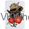 Zippo Classic Skull with Rose White Matte Z257