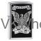 Zippo Lighter: America Eagle, Right to Bear Arms - High Polish Chrome 28290