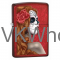Zippo Lighter Day of the Dead Zombie Woman Candy Apple Red 28830 Wholesale