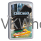 Zippo Classic Chicago Waterfront Satin Chrome Z102 Lighter Wholesale