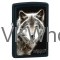 Zippo White Wolf - Black Matte Lighter Wholesale